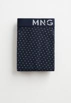 MANGO - Dots boxers - navy