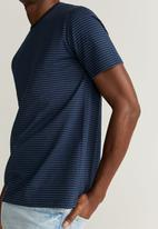 MANGO - Bestripe T-shirt - navy