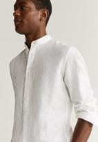 MANGO - Bolar shirt - white
