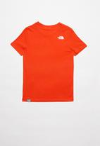 The North Face - Boys easy tee - fiery red & white