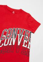 Converse - Converse boys collegiate rpt wrap tee - red