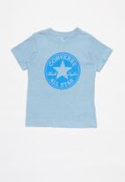 Converse - Converse boys overdye heather cp tee - blue