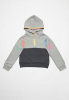 Levi's® - Levi sporty pieced hoodie - grey