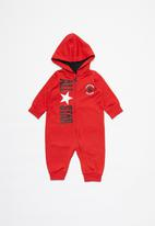 Converse - Converse all star hood zip-up coverall - red