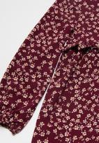 Superbalist - Tweens printed dress- burgundy