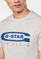 G-Star RAW - Graphic 4 r slim fit short sleeve tee - grey