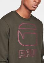 G-Star RAW - Graphic G-raw long sleeve sweat - asfalt