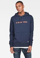 G-Star RAW - Graphic core hooded sweat - sartho blue