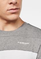 G-Star RAW - One cut & sewn GR short sleeve tee - lt shadow grey