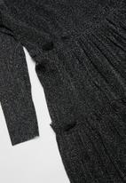 name it - Fronora long sleeve midi dress - black