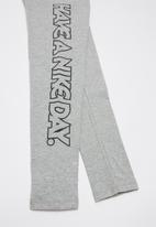 """Nike - Nkg """"have a nice day"""" legging - grey"""