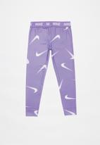 Nike - Nkg large swooshfetti legging - purple