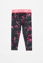 Nike - Nkg jdi rainbow wash legging - black & pink