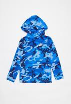 Nike - Nike boys nsw jersey po camo hoodie - blue