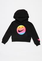 Nike - Nike girls smiley cropped pullover - black