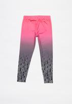 Nike - Nike girls gradient sublimated legging - black & pink