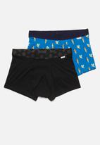 Happy Socks - 2-pack parrot trunks - black & blue