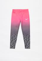 Nike - Nike girls gradient sublimated legging - black & pink
