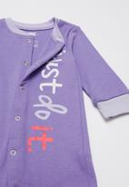 Nike - Nike girls just do it footed coverall and hat - purple