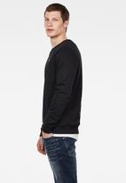 G-Star RAW - Premium core r sw long sleeve - dk black