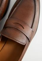 MANGO - Leather mocasin - brown