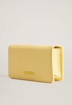 MANGO - Nacho wallet - yellow