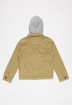 Levi's® - Hooded trucker jacket - stone