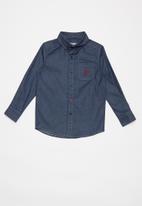 POLO - Boys Trent denim shirt - medium wash