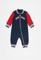 Converse - Converse varsity knit coverall - navy & red