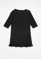 GUESS - Girls long sleeve dress - black & gold