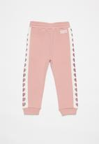 GUESS - Girls active pant - pink & white