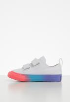 Converse - Chuck taylor all star 2v rainbow ice ox - white/racer pink/black