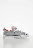 Converse - Chuck taylor all star street moon seasons slip - wolf grey/habanero red/white