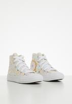 Converse - Chuck Taylor All Star floral hi - white/topaz gold/peony pink