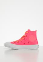 Converse - Chuck Taylor All star glow up hi - racer pink/fresh yellow/white