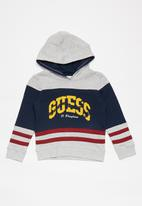 GUESS - Hooded active top - grey & blue