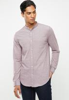 Brave Soul - Mantis pique long sleeve shirt - purple