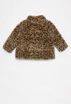 Cotton On - Shayna faux fur jacket - brown & black