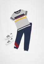 GUESS - Boys printed short sleeve T-shirt - grey