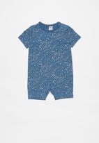 Cotton On - The short sleeve romper - blue