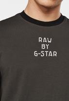 G-Star RAW - Text gr slim r t short sleeve - raven