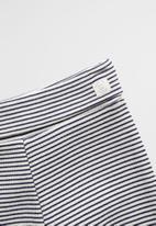 MANGO - Trousers polaina - navy & white