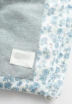 MANGO - Waistcoat Ali - blue & white