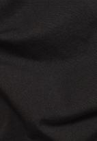 G-Star RAW - Raw text slim fit short sleeve tee - black