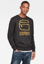 G-Star RAW - Graphic graw long sleeve - black