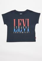 Levi's® - Levi rolled sleeve high rise tee - navy