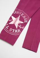 Converse - Converse girls oversize Chuck patch leggings - purple