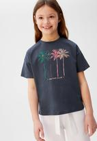 MANGO - T-shirt tina - blue