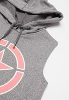 JEEP - Sleeveless pullover hoodie - grey