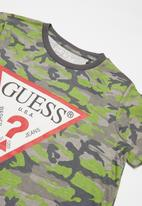 GUESS - Boys camo short sleeve T-shirt - khaki